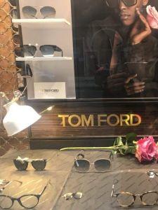 Escaparates federópticos Idiakez Donostia Tom Ford