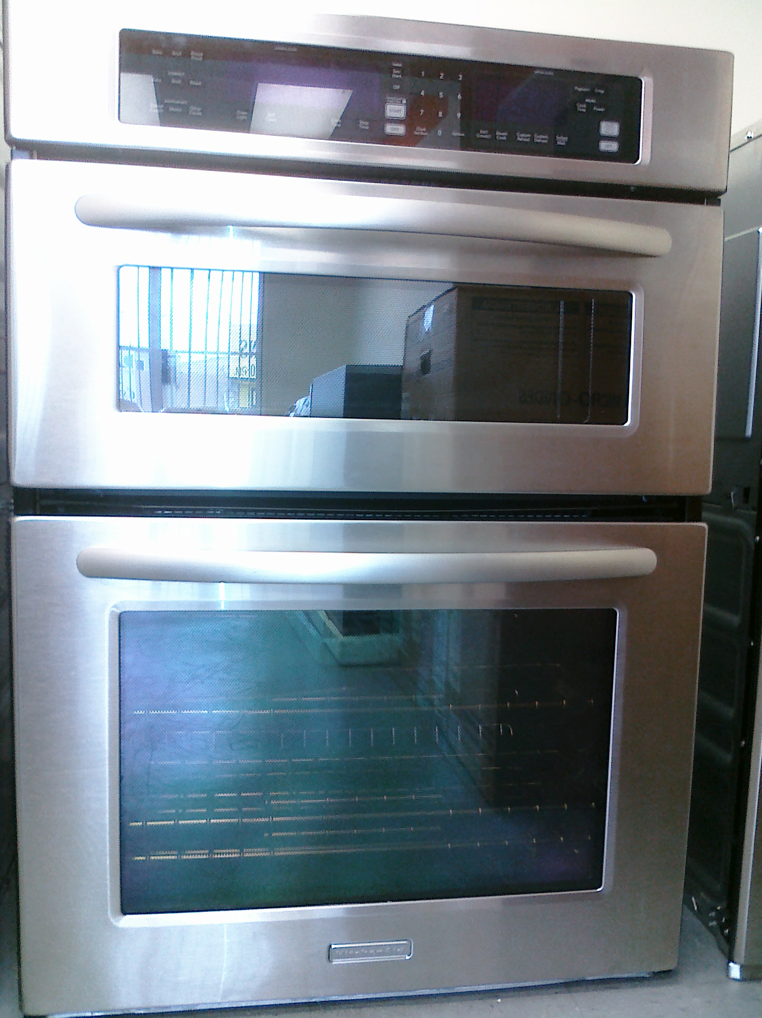 kitchen aid stoves pull down faucets 9 kems308sss 30 built in electric oven microwave combo