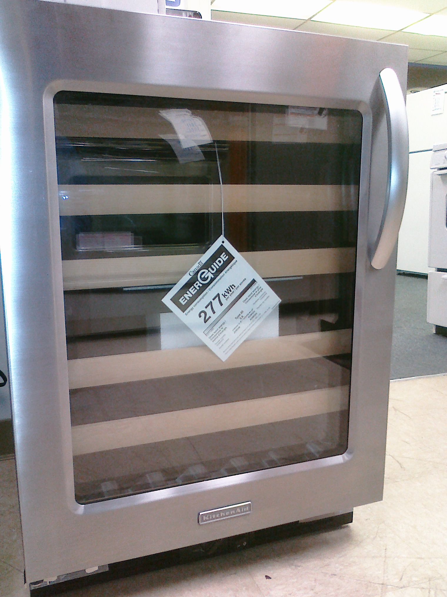kitchen aid wine cooler rooster rugs 9 kitchenaid kuws24lsbs 24 built in refrigerator