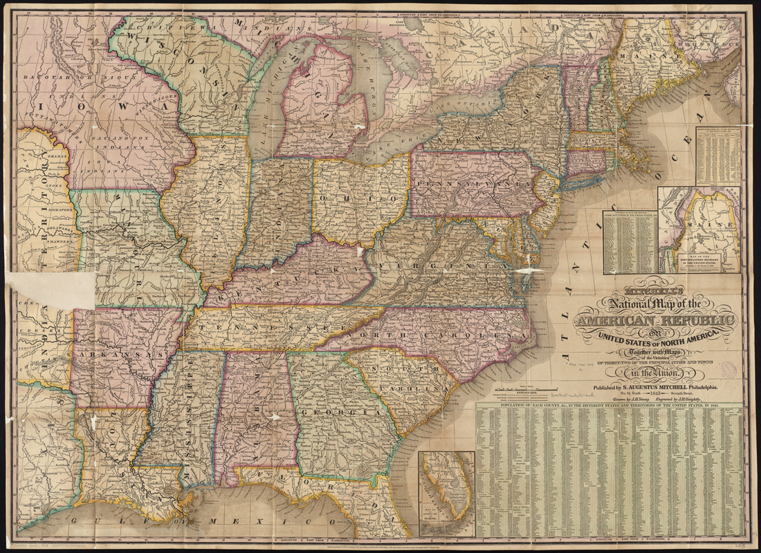 Norristown, oil city, phoenixville, philadelphia, pittsburgh, plum,. Mitchell S National Map Of The American Republic Or United States Of North America Norman B Leventhal Map Education Center
