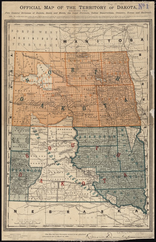 Missouri Indian Tribe Map : missouri, indian, tribe, Official, Territory, Dakota,, Showing, General, Divisions, South, North,, Districts,, Indian, Reservations,, Counties,, Towns, Railroads, Norman, Leventhal