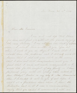 Letter from Thomas H. Jones, New Haven, to William Lloyd