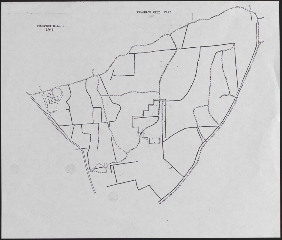 Lyford Grid overlayed onto 1947 Prospect Hill I and VII