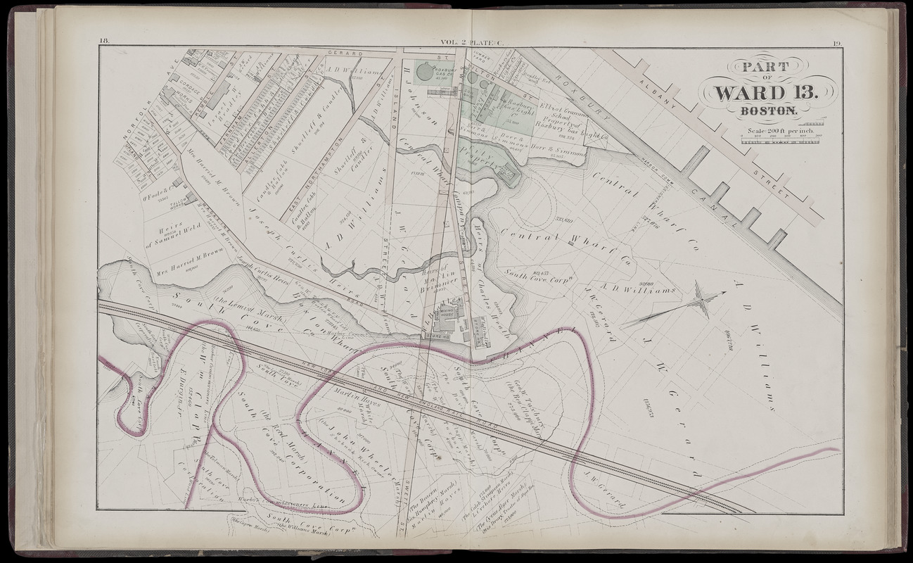 hight resolution of atlas of the county of suffolk massachusetts vol 2nd late city of roxbury