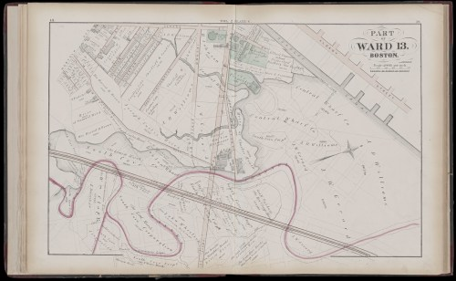 small resolution of atlas of the county of suffolk massachusetts vol 2nd late city of roxbury