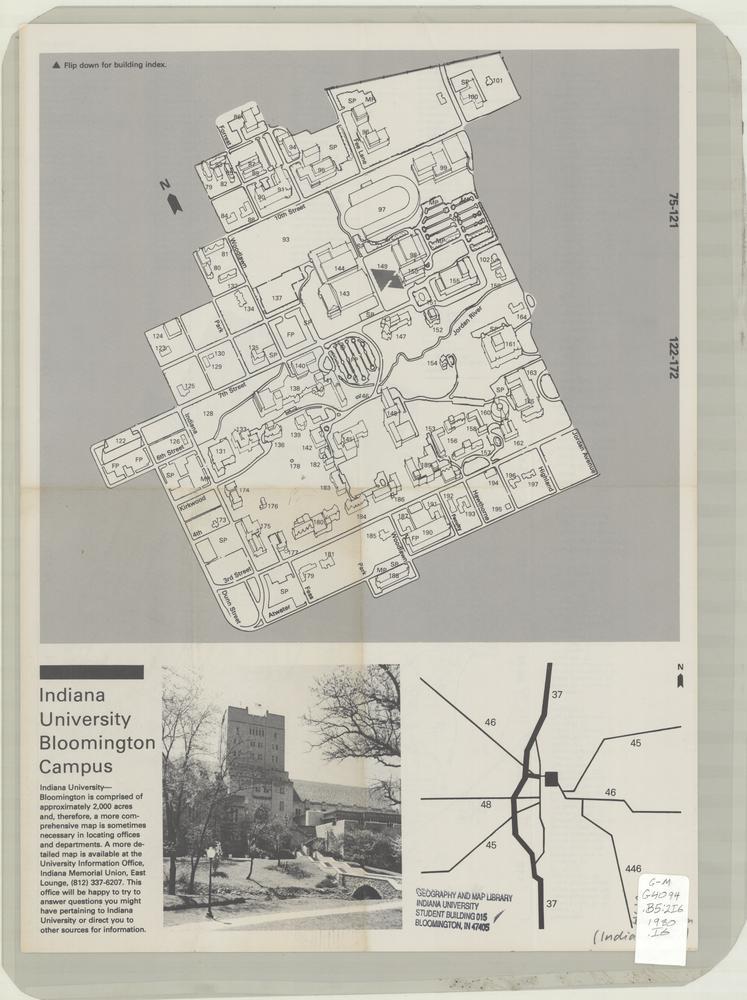 Indiana University Bloomington Map : indiana, university, bloomington, Image, Collections, Online,