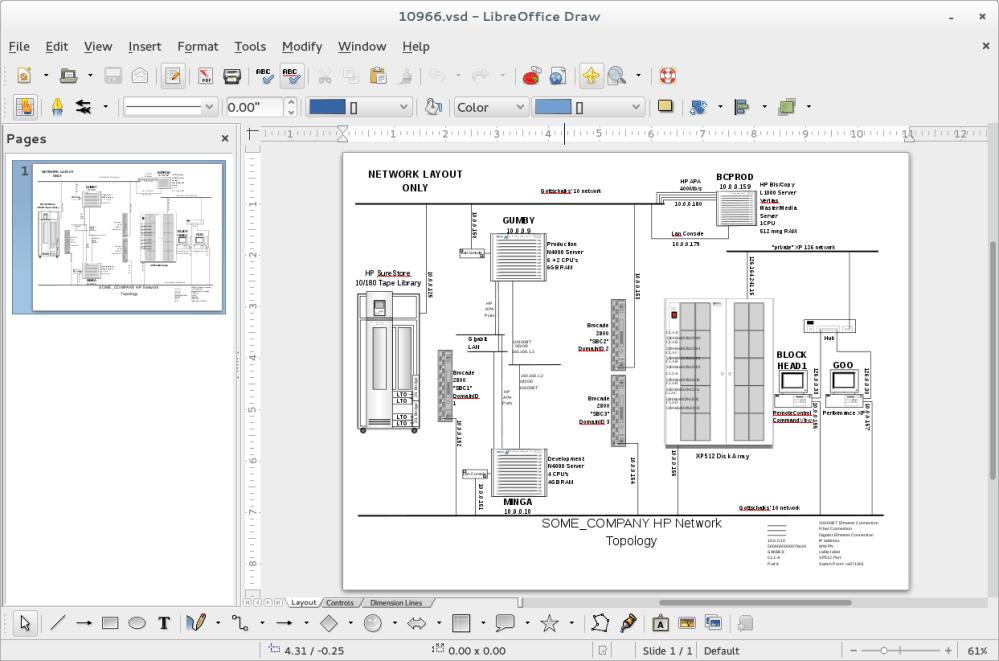 medium resolution of screenshot of libreoffice draw opening up a visio vsd diagram