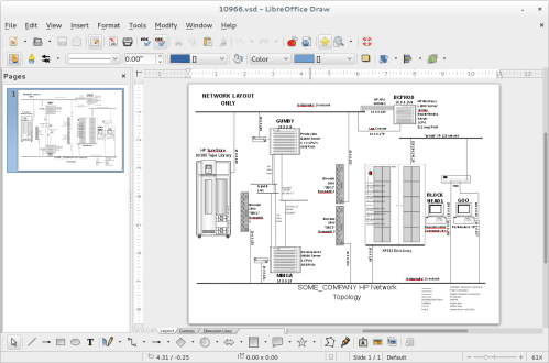 small resolution of screenshot of libreoffice draw opening up a visio vsd diagram