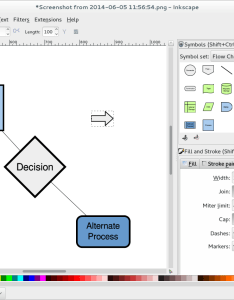 Screenshot of an inkscape development version showing some diagramming capabilities including the symbols library and also tools for in fedora magazine rh fedoramagazine