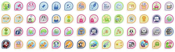 mattdm's badges
