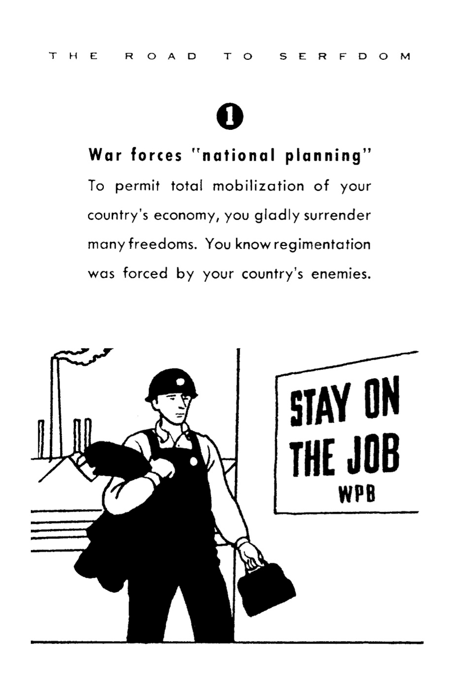 The Essence of the Road to Serfdom — in Cartoons! by F. A