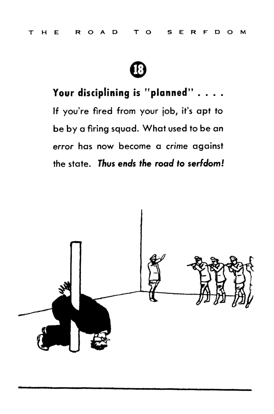 The Essence of the Road to Serfdom (in Cartoons
