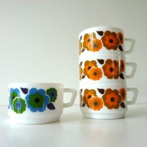 tasses à café lotus