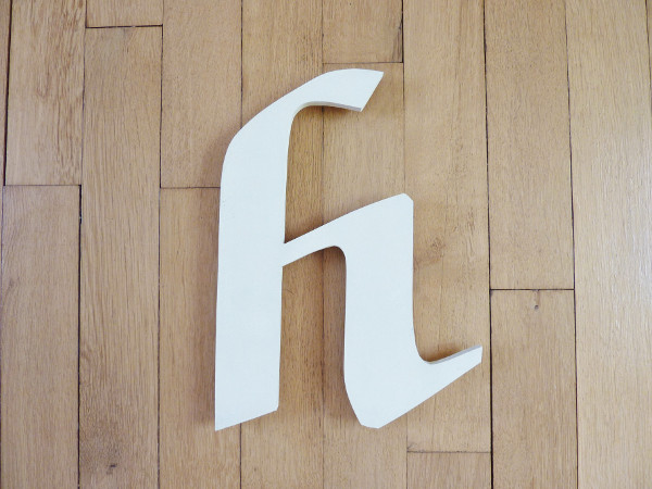 Lettre H minuscule