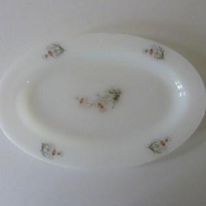 plat ovale arcopal marguerites vintage