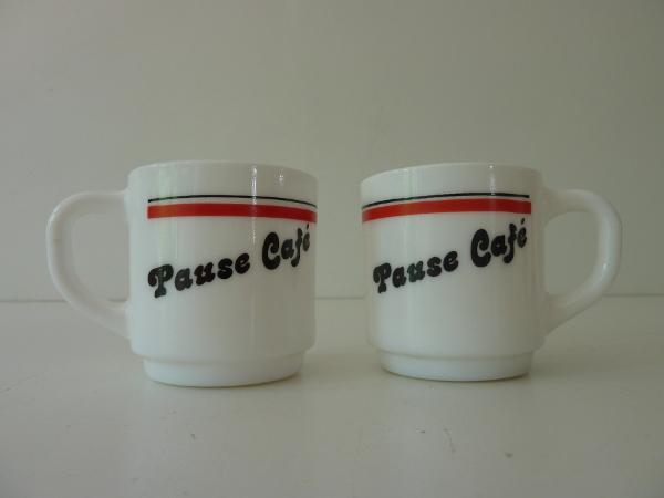 tasses arcopal pause café vintage