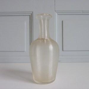 Carafe ancienne verre strié