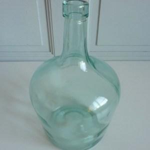 Dame jeanne ancienne 2 litres verre bleuté
