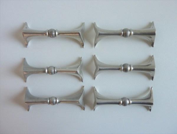 Portes couteaux argentés années 50