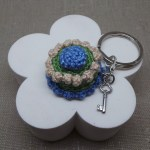 Crochet Cake Key chain