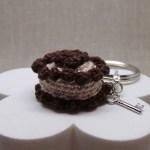 Crochet Keychain Brown Beige