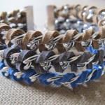 Trio Leather Chain Bracelet