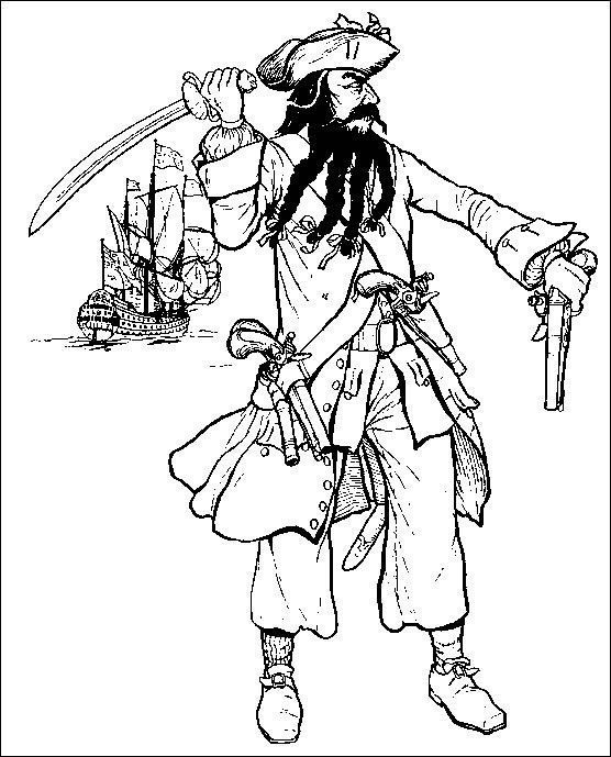 coloriage personnages pirate