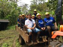 Riding the tractor with iCause volunteers after panting 700 native Philippine trees