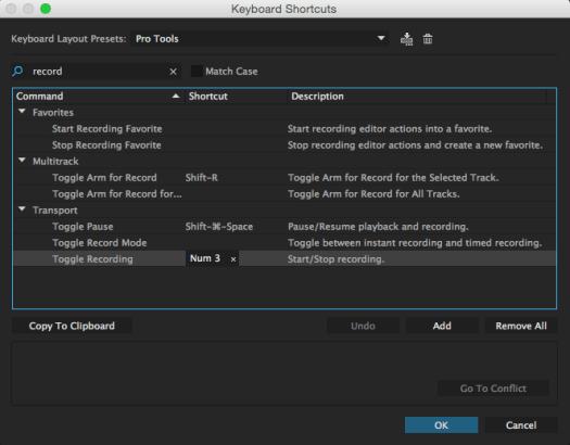 customize keyboard shortcuts