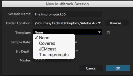 Select multi-track session