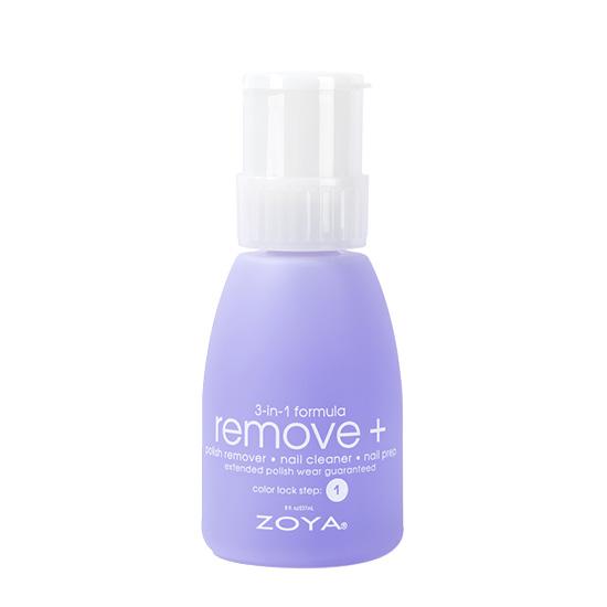A bottle of ZOYA Remove +.