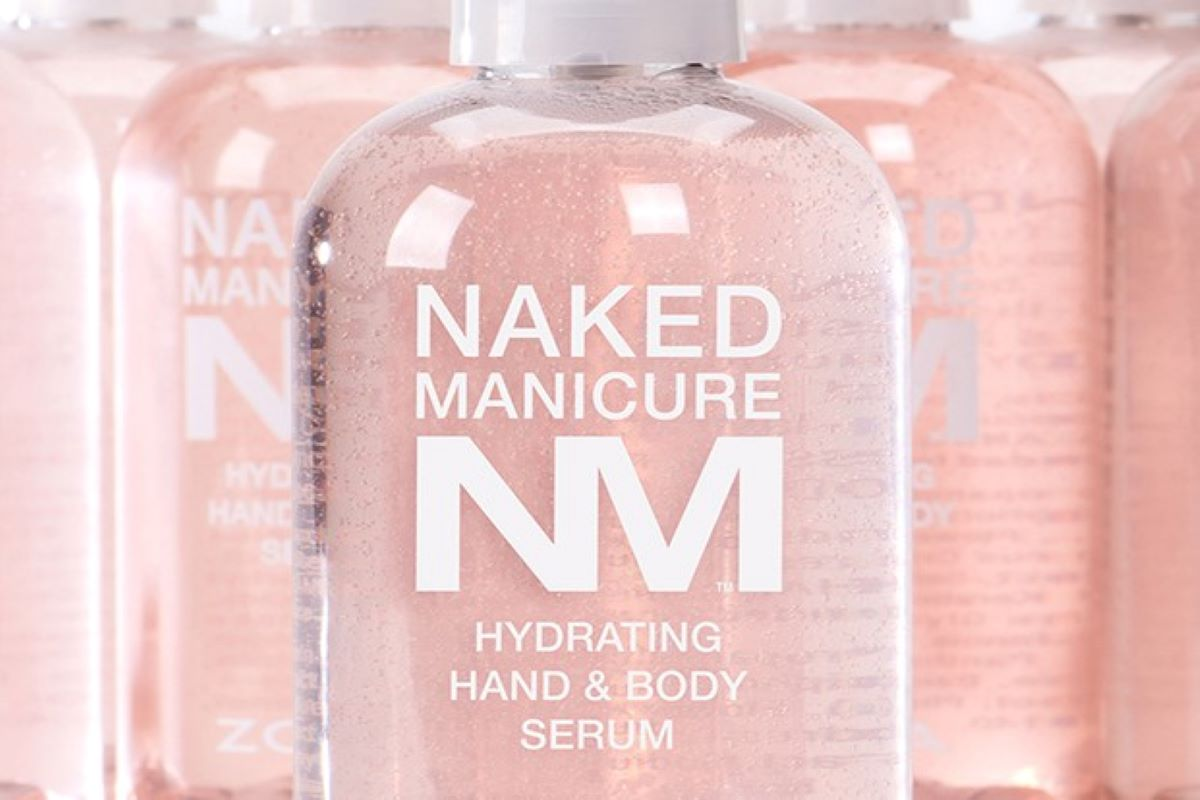 A group picture of the Hydrating Hand and Body Serum by Naked Manicure.