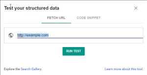 Structured Data Testing Tool URL