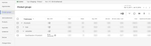 Google Adwords Product Groups