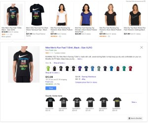 Google Shopping More Options