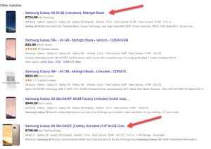 Google Shopping Single Listing