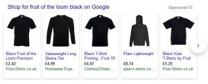 Google Shopping Carousel