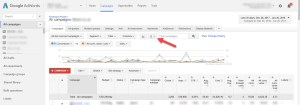 Google Adwords Download Table Contents Old UI