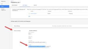 Edit Data Feed URL