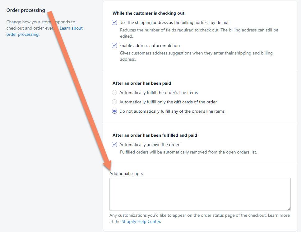Shopify Checkout Additional Scripts