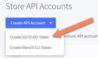 BigCommerce API Token Option