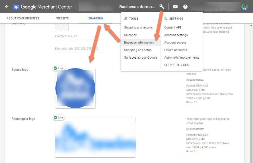 Google Merchant Center Branding