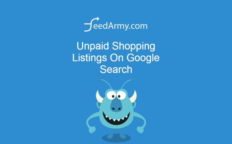 Unpaid Shopping Listings On Google Search