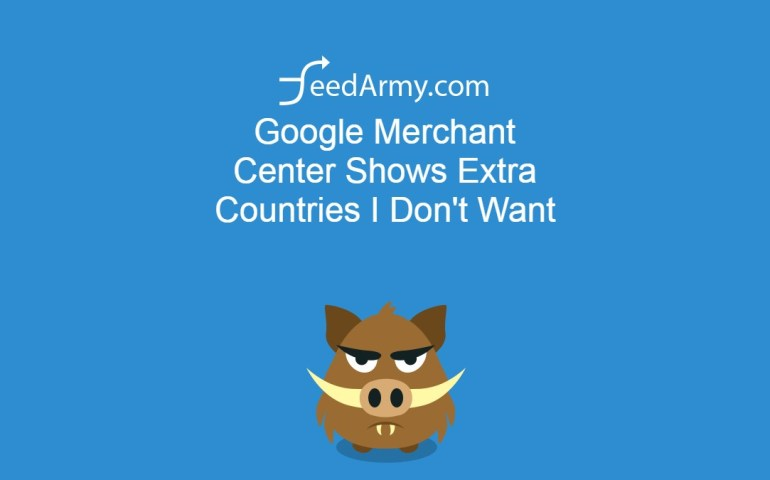 Google Merchant Center Shows Extra Countries I Don't Want