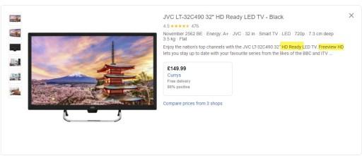 Google Shopping Description Special Feature Focus