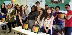 class room group shot