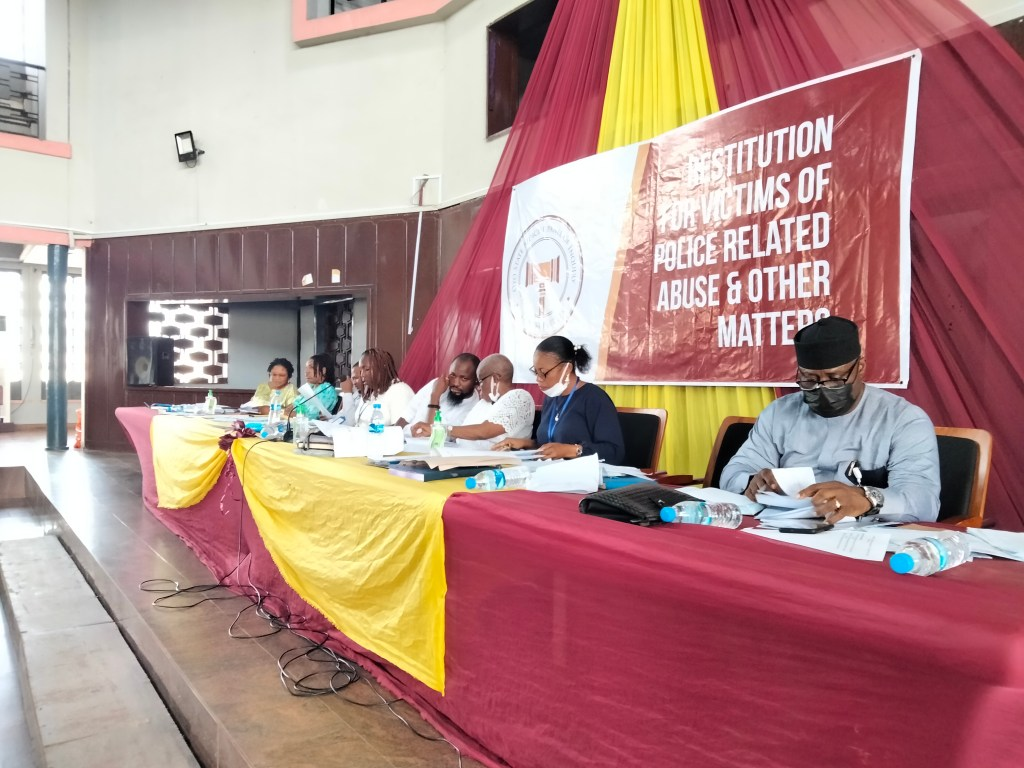 Picture of the hearing at the Oyo State Judicial Panel of Inquiry on May 6, 2021