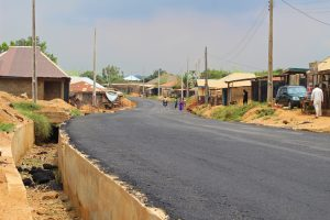 Picture of the ongoing reconstruction of Airport-Ajia-New Ife Express Road with a spur to Amuloko taken on July 31, 2021
