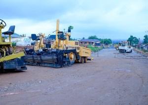 Picture of the 5.2km Gedu-Oroki-Sabo-Asipa Road taken on August 14, 2021