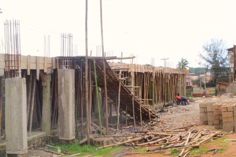 Picture of the ongoing construction of ICT Hub Mokola, Ibadan taken on September 7, 2021